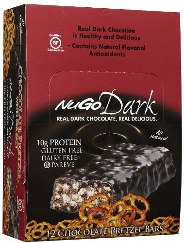 Nugo Dark Chocolate Pretzel Bars, 1.76 oz, 12 ct