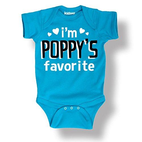 Im Poppys Favorite Grandparents Love Cute Cool Grandkids Style Infant One-Piece
