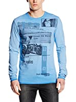 Guess Camiseta Manga Larga Motorcycle Clu (Cielo)