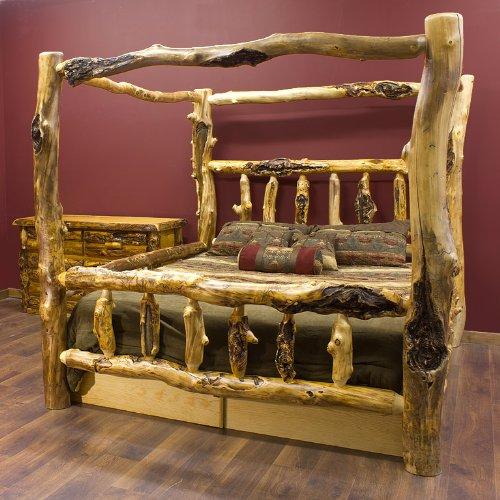 Silver Creek Aspen Canopy Log Bed - Buy Silver Creek Aspen Canopy Log Bed