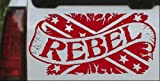 Rebel Banner Rebel Flag Country Car Window Wall Laptop Decal Sticker -- Red 6in X 3in