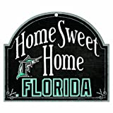 """MLB Florida Marlins 11-by-9 Wood """"Home Sweet Home"""" Sign"""