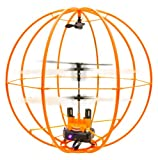 Space Ball - Infrared Remote Control 3CH R/C Flying Helicopter Sphere Gyroscope - Orange Version