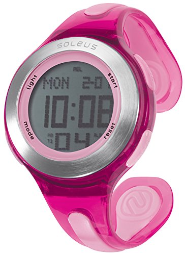 Soleus Swift Orologio da Corsa con Activity Tracker Salute e Fitness, Rosa/Argento