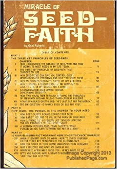 For explanation, Oral roberts seed faith rather