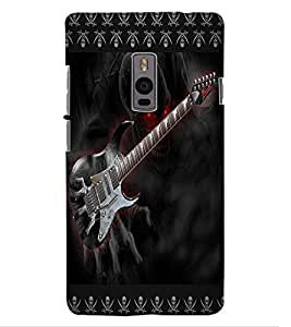 ColourCraft Creative Guitar Design Back Case Cover for OnePlus Two