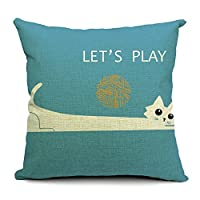 Decorative 18*18 Inch Linen Cloth Pillow Cover Cushion Case by littlekelly