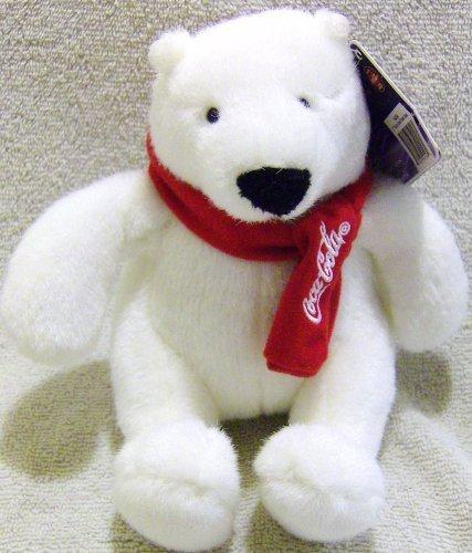 Coca-Cola Plush Polar Bear with Red Coca-Cola Scarf (Coca Cola Plush Bear compare prices)