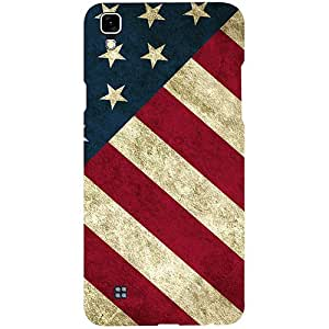 Casotec USA Flag Design 3D Printed Hard Back Case Cover for LG X Power