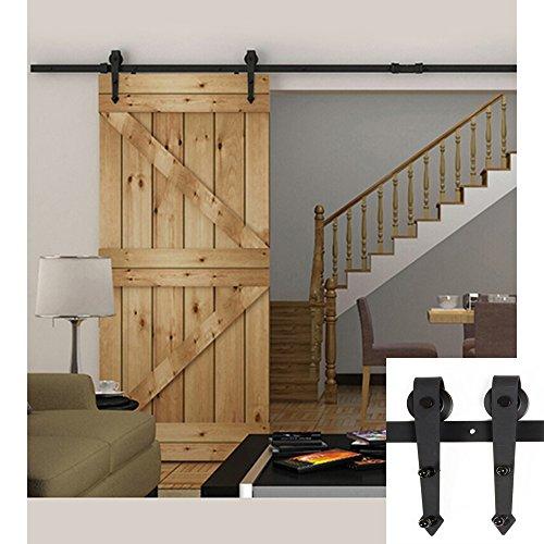 Hahaemall set de riel de 1 5 m y soportes hechos de acero - Rieles puerta corredera ...