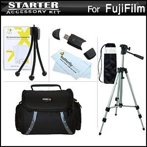 Starter Accessories Kit For Fuji Fujifilm FinePix HS30EXR, Fujifilm X-E1 SL300, S8200 S8300 S8400 S8500 S6700, S6800, S6900, S4600, S4700, S4800, SL1000, HS50EXR, X100S, X20, X-M1, X-E2, S8600, S9200, S9400W, S1, X-T1 Includes Case + 50 Tripod W/ Case ++