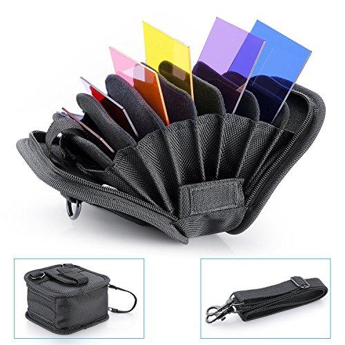 Neewer® 8en 1Noir Couleur Filtres Sac Sac Bandoulière pour 25mm-95mm couleur Objectif Filtre Filtre