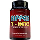7 Keto DHEA 100 Mg 90 Count Capsules - PLUS Keto 7,Vitamin B6, Niacin, Vitamin B1, Vitamin B2, Folic Acid, Biotin, Chromium, Vitamin B12, Green Tea and Caffeine!