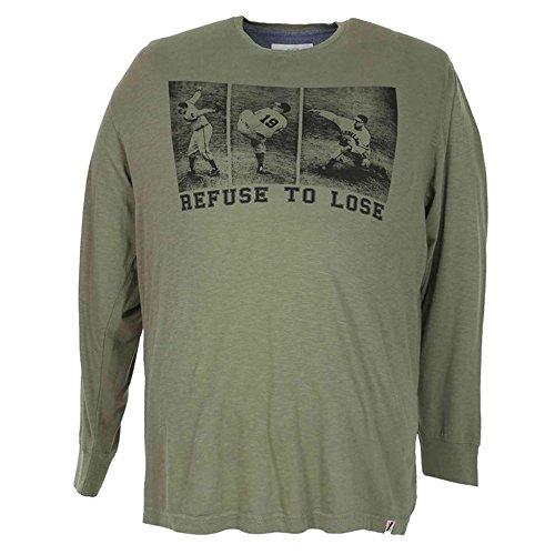 Maglia t-shirt taglie forti uomo Maxfort 24204 maniche lunghe - Grigio scuro, 4XL