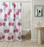 "@home Flower Shower Curtain - 70""x78"", Purple"