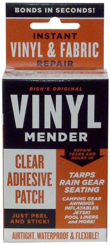 Tear Mender BRT-1 Bish's Original Vinyl Mender Clear Adhesive Patches, 40 Sq. Inches
