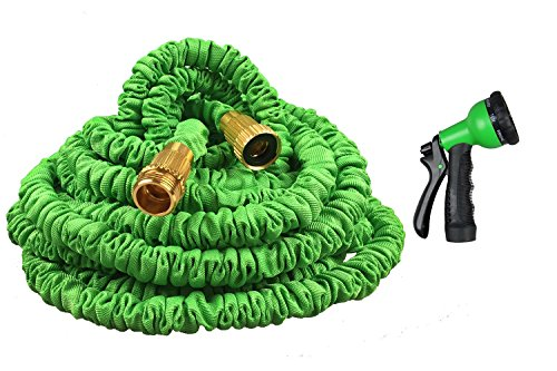 The Fit Life New Expandable Hose 75 Feet Strongest Magic Garden Hose Extra Strength Fabric Durable Double Layer Latex Free Spray Nozzle 3/4 USA Standard Green 75ft (Pressure Washer Hose 75ft compare prices)