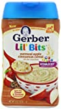 Baby/Infant/Child/Kid Gerber Lil' Bits Baby Cereal, Oatmeal Apple Cinnamon, 8 Ounce (Pack of 6) Newborn Gear