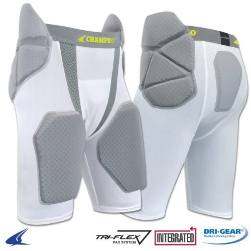 Champro Tri-Flex Football Girdle - 5 Pads, Youth Medium (Football Pads For Kids compare prices)