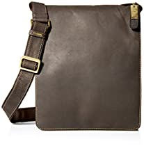 Visconti Visconti Big Leather Organizer Messenger Bag In Distressed Leather