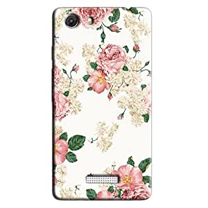 PINK FLOWERS FLORAL DESIGN BACK COVER FOR MICROMAX UNITE 3