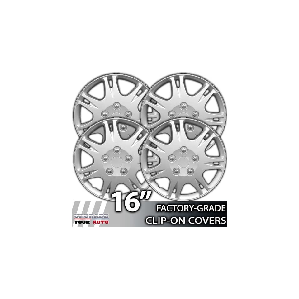 1999 2003 Mitsubishi Galant 16 Inch Silver Metallic Clip On Hubcap Covers