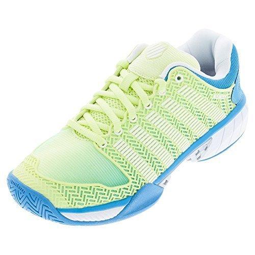 K-Swiss Women's Hypercourt Express Tennis Shoe-7.5 B(M) US-Sunny Lime/Vivid Blue/White