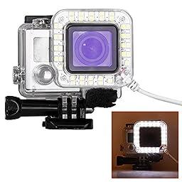 Bestlight® USB Port 20 LED Ring Shooting Night Flash Light Works for GoPro Hero 3+/3 Plus, Hero 4 Cameras