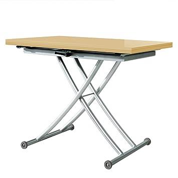 menzzo b2219s contemporain carrera carrera table basse relevable bois inox laqu beige. Black Bedroom Furniture Sets. Home Design Ideas