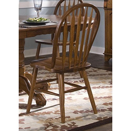 Nostalgia Traditional Oak Arrowback Windsor Side Chair (Windsor Side Chair compare prices)
