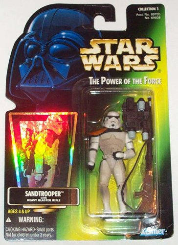 KENNER 1996 POTF SANDTROOPER GREEN CARD W/ HOLOGRAM COLL. 3 ACTION FIGURE MOC