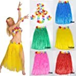 Fancy Hawaiian Grass Skirt Flower Hul...