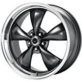 "American Racing Custom Wheels AR105 Torq Thrust M Anthracite Wheel With Machined Lip (17x8""/5x127mm, 0mm offset)"