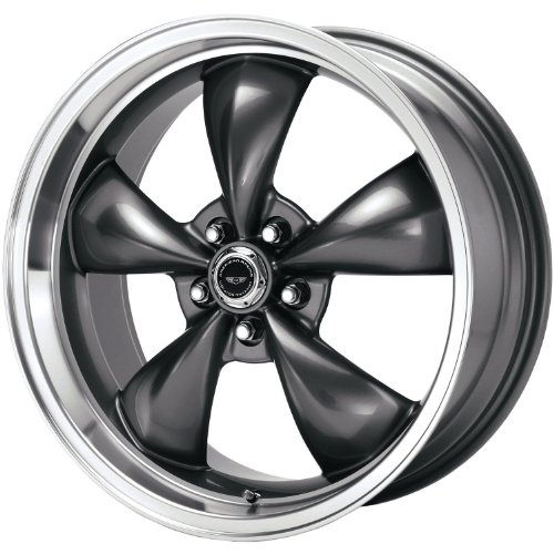 American Racing Custom Wheels AR105 Torq Thrust M Anthracite Wheel With Machined Lip (17x7