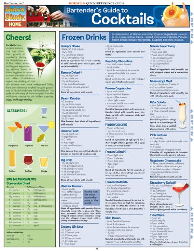 Bartender'S Guide To Cocktails (Quickstudy: Home) PDF