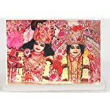 """Dolls Of India """"Radha Krishna - Acrylic Table Stand"""" Reprint On Paper - Encased In Acrylic (7.62 X 5.71 X 2.54..."""