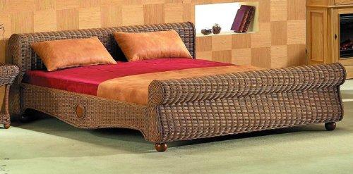 rattan bett 180 200. Black Bedroom Furniture Sets. Home Design Ideas