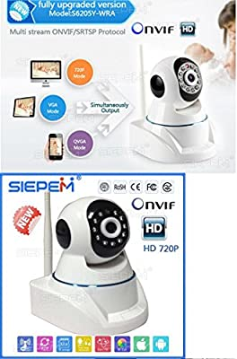 New WiFi Wireless IP Surveillance Security Camera 720P HD P2P Pan Tilt Baby Monitor with IR-CUT Microphones Two-Way Audio ONVIF Night Vision and Motion Activated for Iphone and Android