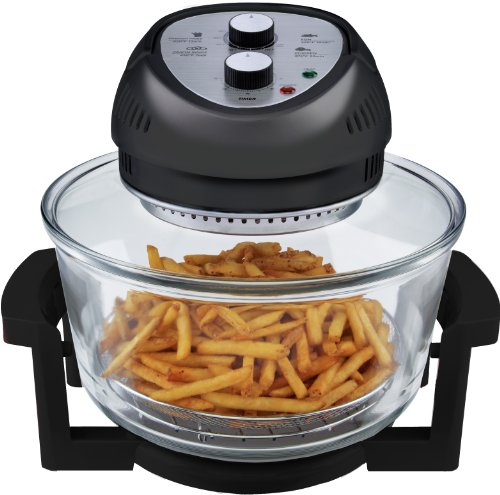 Big Boss 9065 1300-watt Oil-Less Fryer, 16-Quart, Black