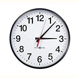 Pyramid 13 RF Wireless 12-Hour Analog Clock, Battery Operated (S9A3AAGBXB)