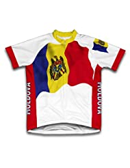 Moldova Flag Short Sleeve Cycling Jersey for Women