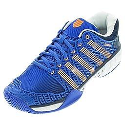 Men`s HyperCourt Express Tennis Shoes Electric Blue and Dress Blue