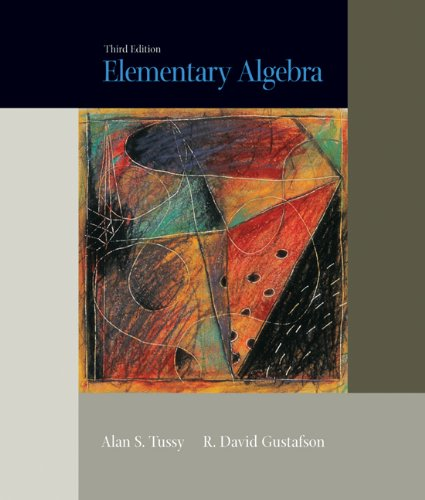 Elementary Algebra (with CD-ROM and iLrn Tutorial) (Available Titles CengageNOW)