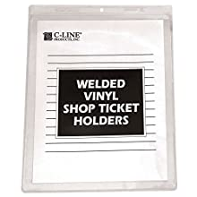 C-Line Vinyl Shop Ticket Holders, Both Sides Clear, 8.5 x 11 Inches, 50 per Box (80911)