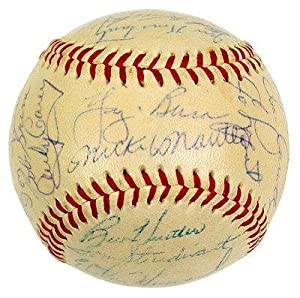 1955 Yankees Team Signed 28 Baseball Ball Mickey Mantle Berra Ford Rizzuto - JSA... by Sports Memorabilia