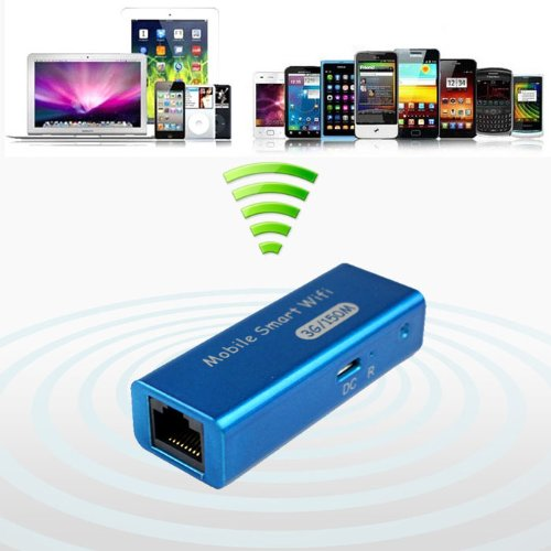 Bestpriceam (TM) New Mini USB Portable 3g/4g Wireless Wifi Ieee 802.11b/g/n 150mbps Ap Router Blue (Blue)