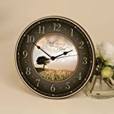 Be Still, and Know That I Am God Inspirational Wall or Tabletop Clock - Psalm 46:10 (12 inch)