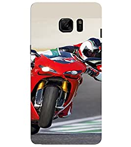 PrintVisa Sports Bike Design 3D Hard Polycarbonate Designer Back Case Cover for SAMSUNG GALAXY NOTE 7