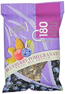 Mareblu Naturals 180 Snacks Blueberry Pomegranate Trail Mix Crunch, 3 Ounce Pouches (Pack of 8)