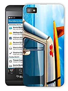 "Mini Van Blue Printed Designer Mobile Back Cover For ""Blackberry Z10"" By Humor Gang (3D, Matte Finish, Premium Quality, Protective Snap On Slim Hard Phone Case, Multi Color)"